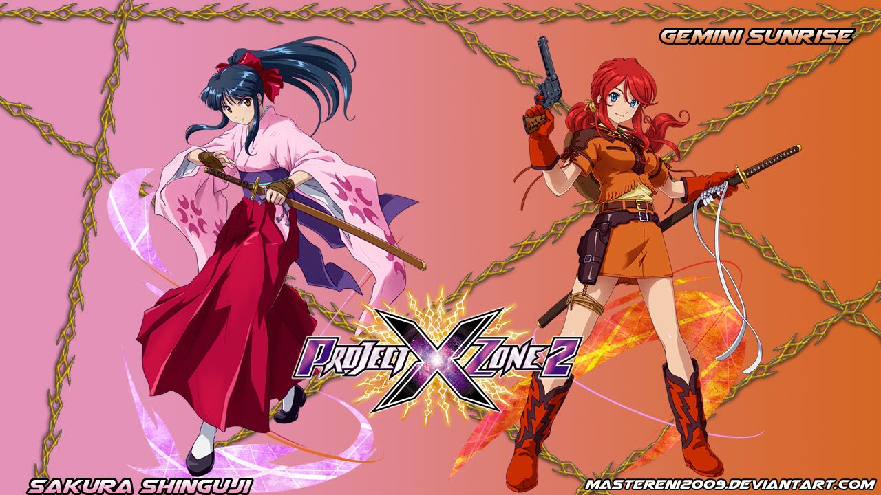 Project X Zone 2 Featuring Sakura Shinguji And Gemini Sunrise From