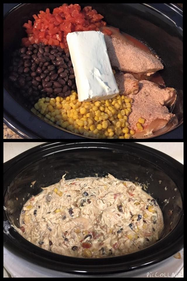 Crockpot Cream Cheese Fiesta Chicken Chili 4 Large Chicken Breasts 1 Packet Fiesta Ranch Mix White Chili Recipe Campfire Food Green Bean Casserole Crock Pot