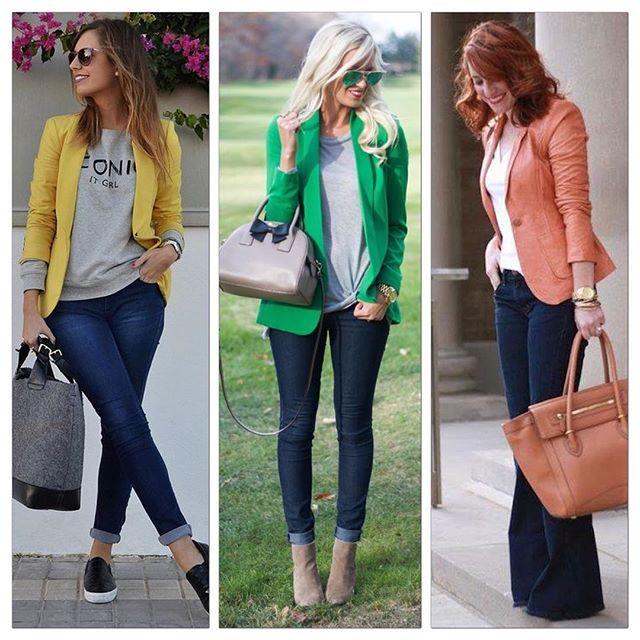 Para inspirar a semana, aposte no Blazer Colorido para modernizar seus looks de…