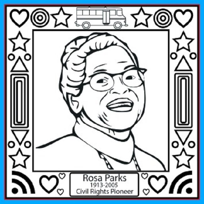 Rosa Parks Day Coloring Pages Free