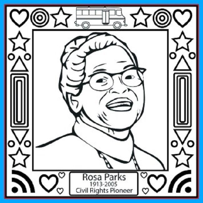 Rosa Parks Day Coloring Pages Free Dengan Gambar