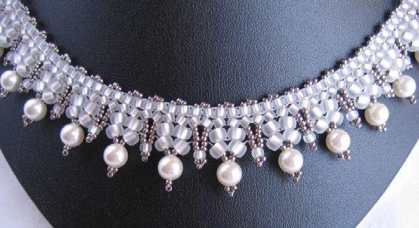 """"""" herringbone collar """" de B - Photo de Les colliers - perlicoti"""