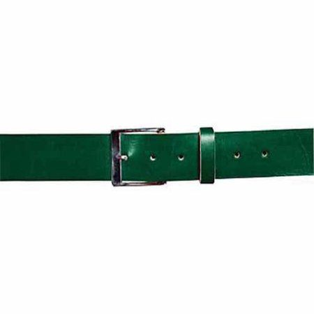Louisville Slugger Men's Slugger Leather Game Belt, Size: Adult 2XL Belt, Green