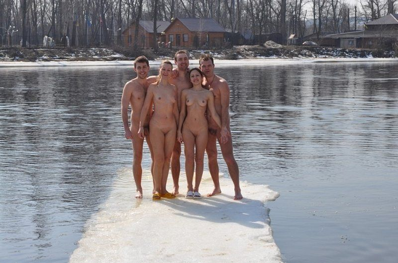 nude polar bear swim