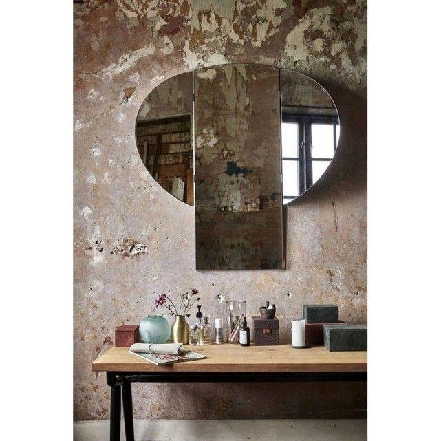 Miroir mural déco rétro House Doctor Mushroom