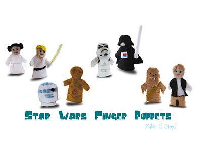 Star Wars Finger Puppets Free Printable Patterns Finger