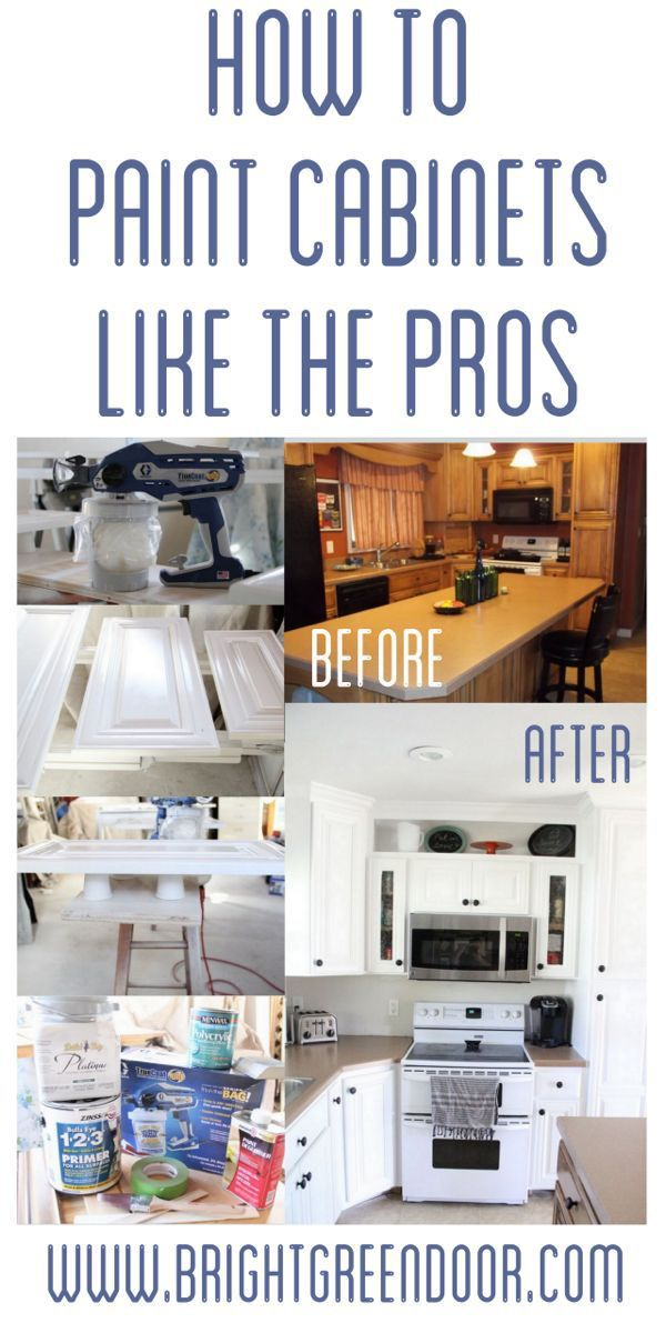 How To Spray Paint Cabinets Like The Pros Spray Paint Cabinets