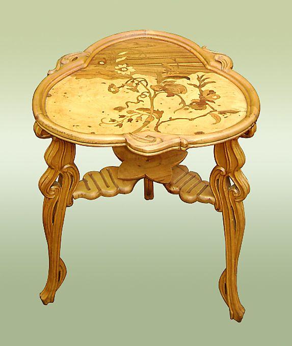 magnificent galle art nouveau style table mobilier rustique moderne ancien pinterest. Black Bedroom Furniture Sets. Home Design Ideas