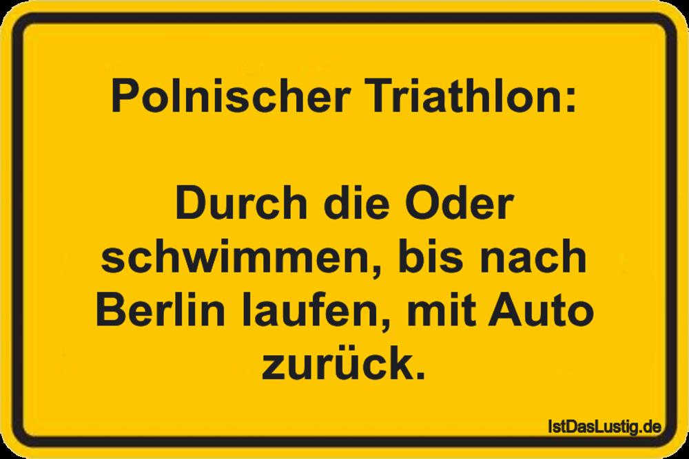 Polnischer Triathlon Durch Oder schwimmen bis nach Berlin