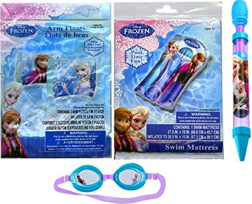 Disney Frozen Childrens Beach Toys  Includes Disney Frozen Arm Floats and Swim Mattress with Disney Frozen Swim Goggles -- For more information, visit image link.Note:It is affiliate link to Amazon. #iphonesia