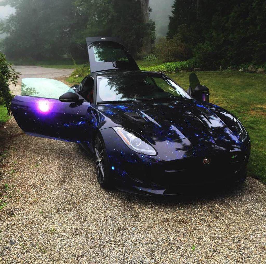 Galaxy Wrapped Jaguar F-Type