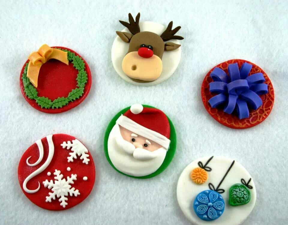 Christmas cupcake toppers I love cupcakes Pinterest ...