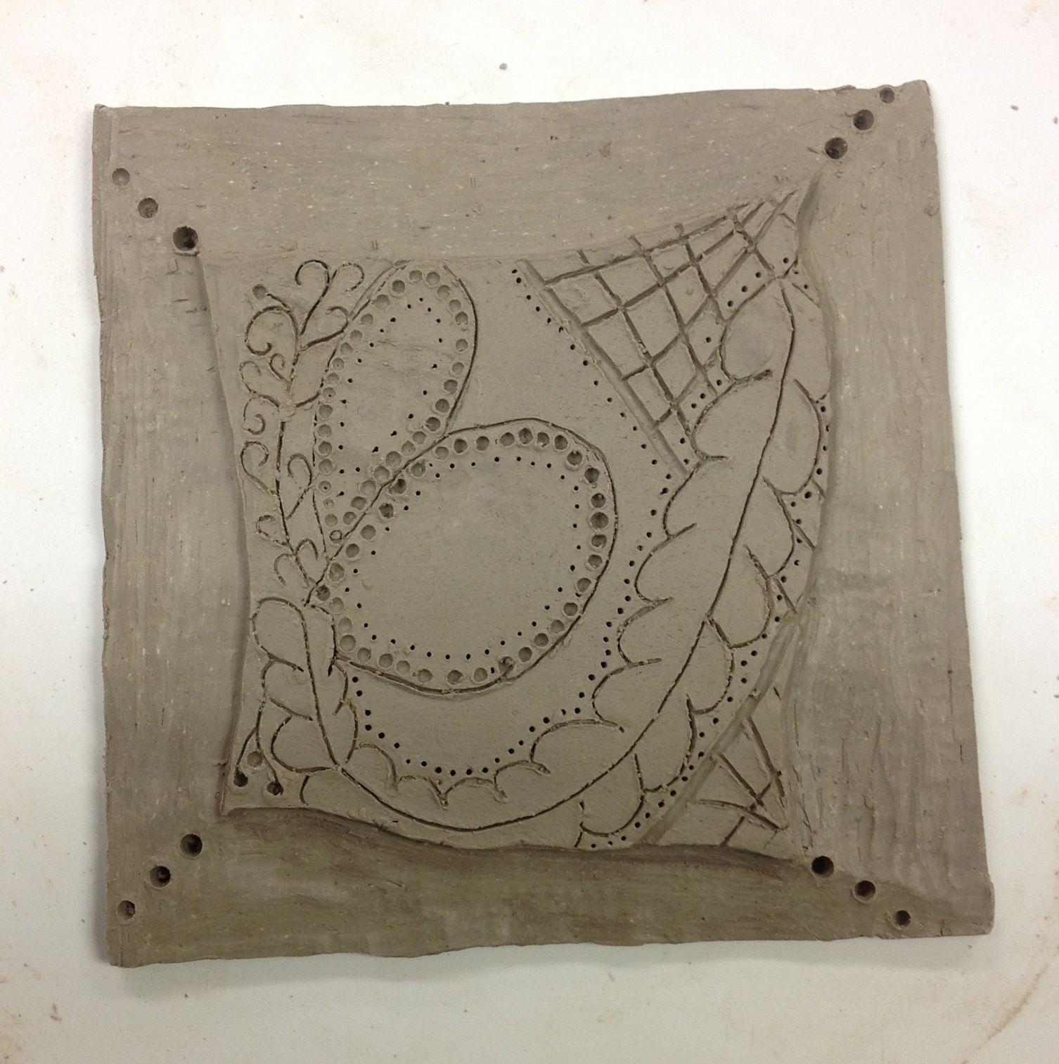 ceramic relief tile high school ceramic lessons pinterest. Black Bedroom Furniture Sets. Home Design Ideas