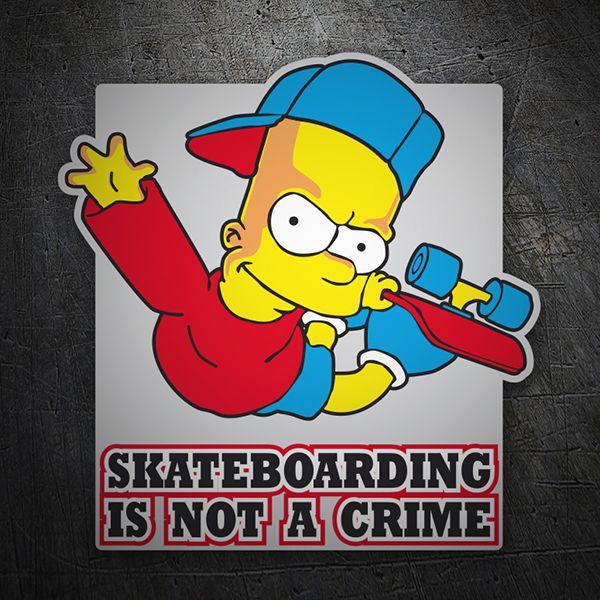 Bart simpon skate pegatinas