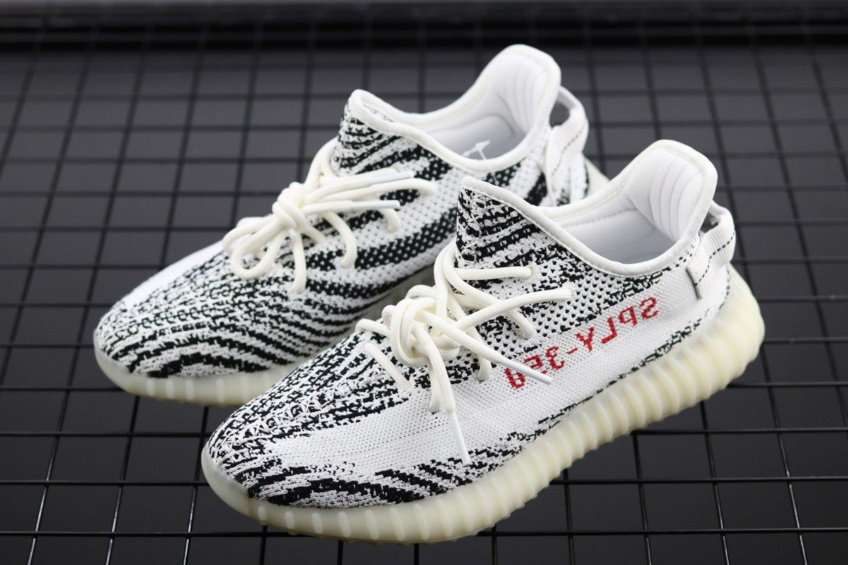 8e883c468 adidas Yeezy Boost 350 V2 Zebra White Core Black-Red For Sale ...