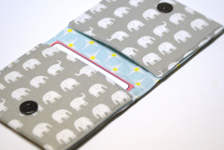 Square Business Card Case, Elephants , Oversized Card Holder ...