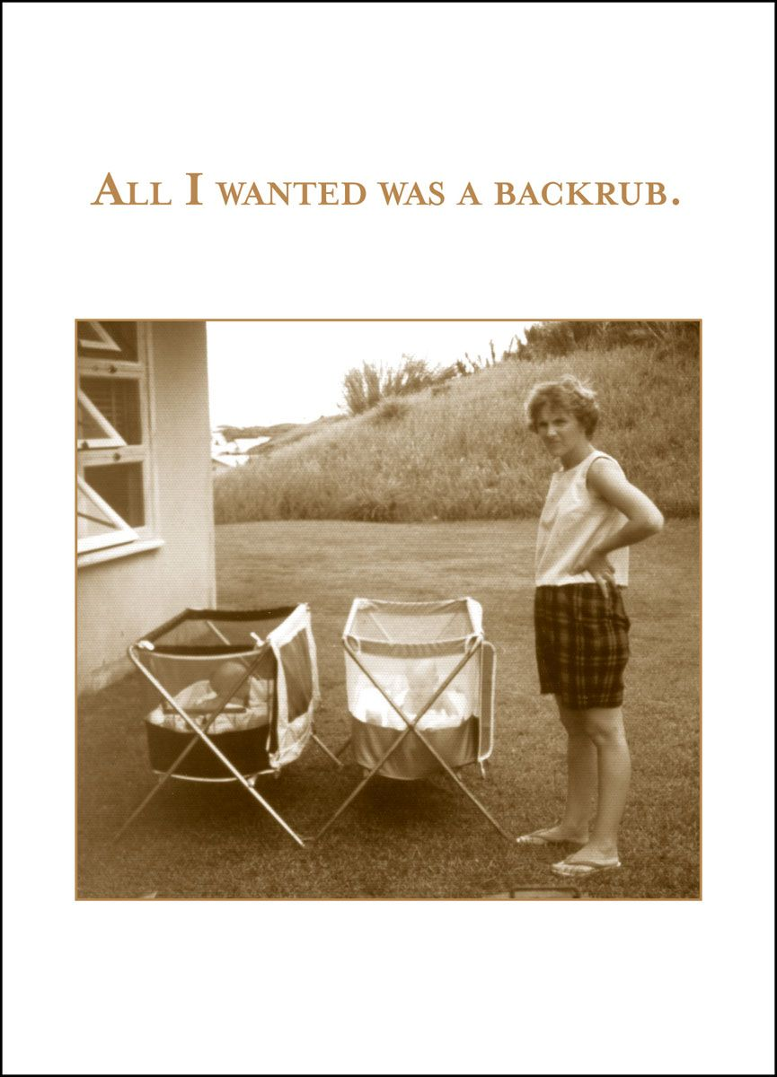 Backrub riiiight funny pinterest humor hilarious and vintage photos made into greeting cards by shannon martin kristyandbryce Images