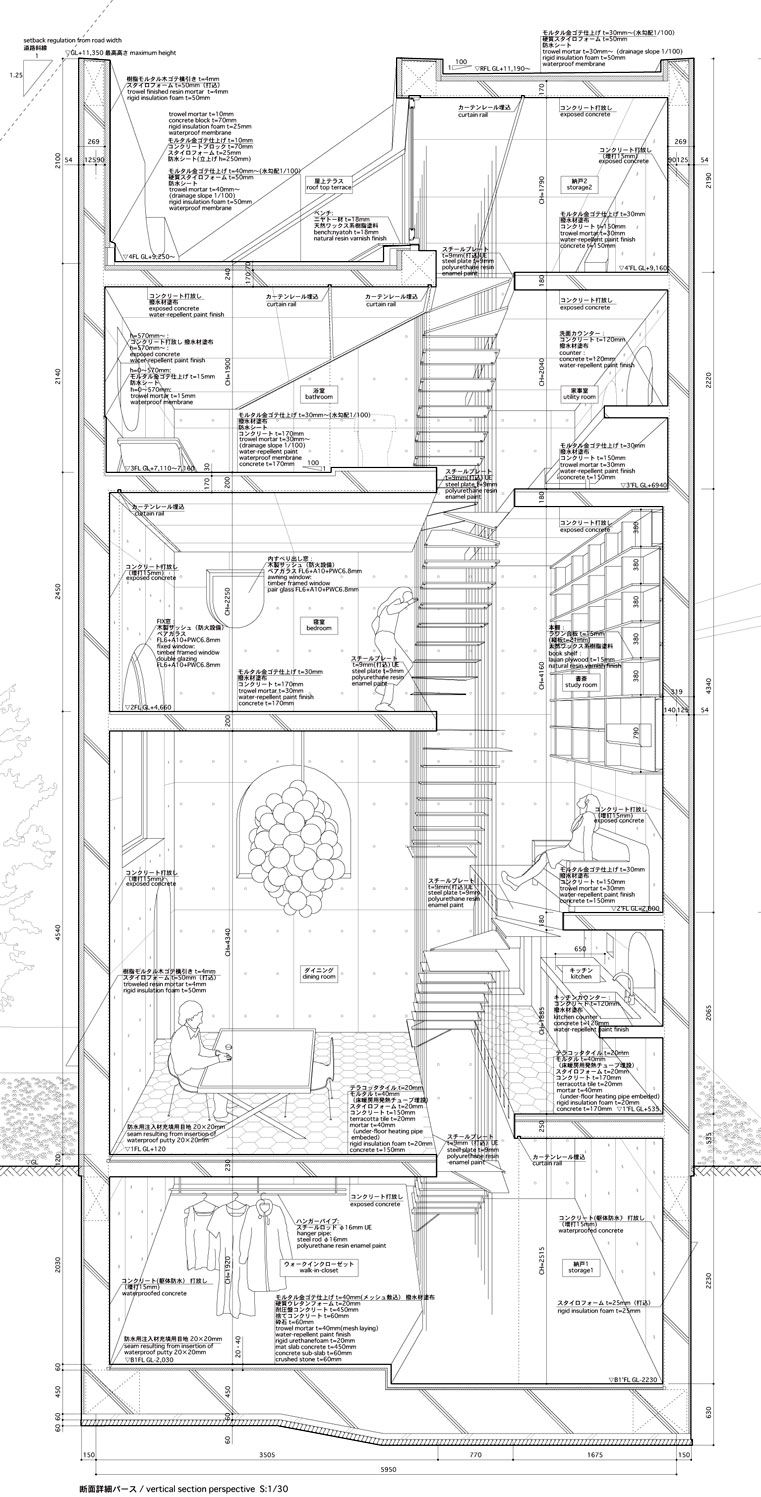 House tower tokyo atelier bow wow architecture for Bow house plans