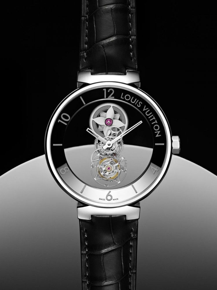 e2b4d990f612f Louis Vuitton Conjures a Little Mystery With the  Tambour Moon Mystérieuse  Flying Tourbillon