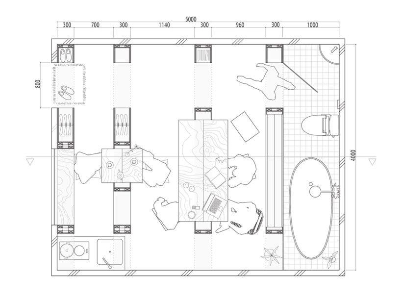 Galer a de barcode room un espacio m nimo y flexible a for Espacios minimos arquitectura