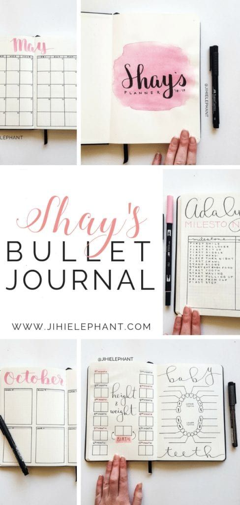 Shay's Pink and Gray Baby Bullet Journal ...