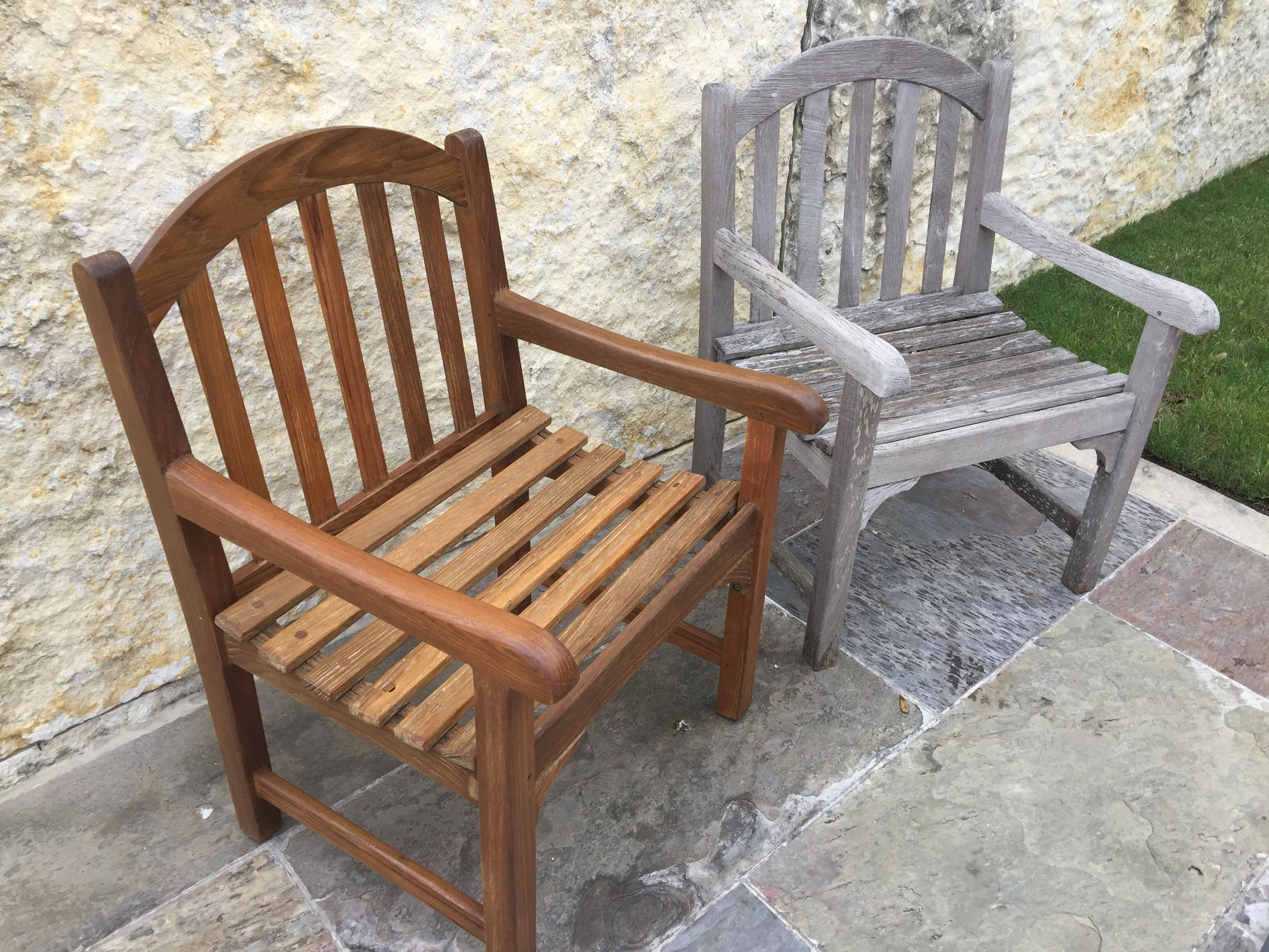 Before And After Teak Outdoor Furniture In 2019 Teak