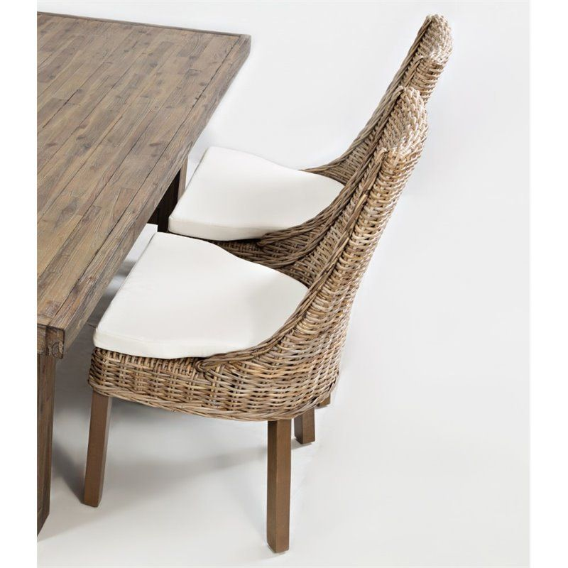 Room Lowest Price Online On All Jofran Hampton Road Rattan Dining Chair With Cushion Set Of