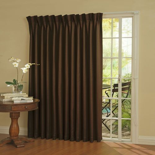 Eclipse Patio Door Espresso Thermal Blackout Curtain Panel