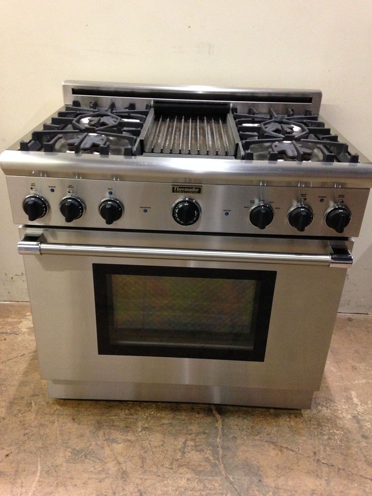 3 900 00 Thermador P364glcs 36 Gas Professional Range 4 Burner Grill Stainless Steel
