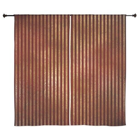 Red Gold Stripes 60 Curtains Harry Potter Bedroom