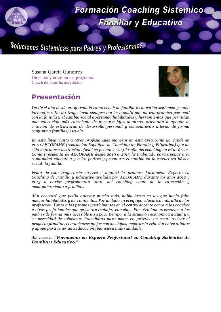 Formación Experto Profesional Coaching Sistémico Familiar Y