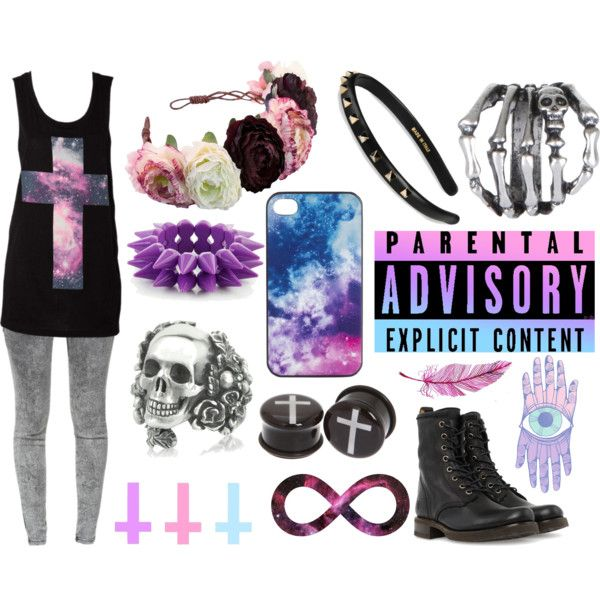 Pastel Goth by samuel-james-johnson on Polyvore featuring ...