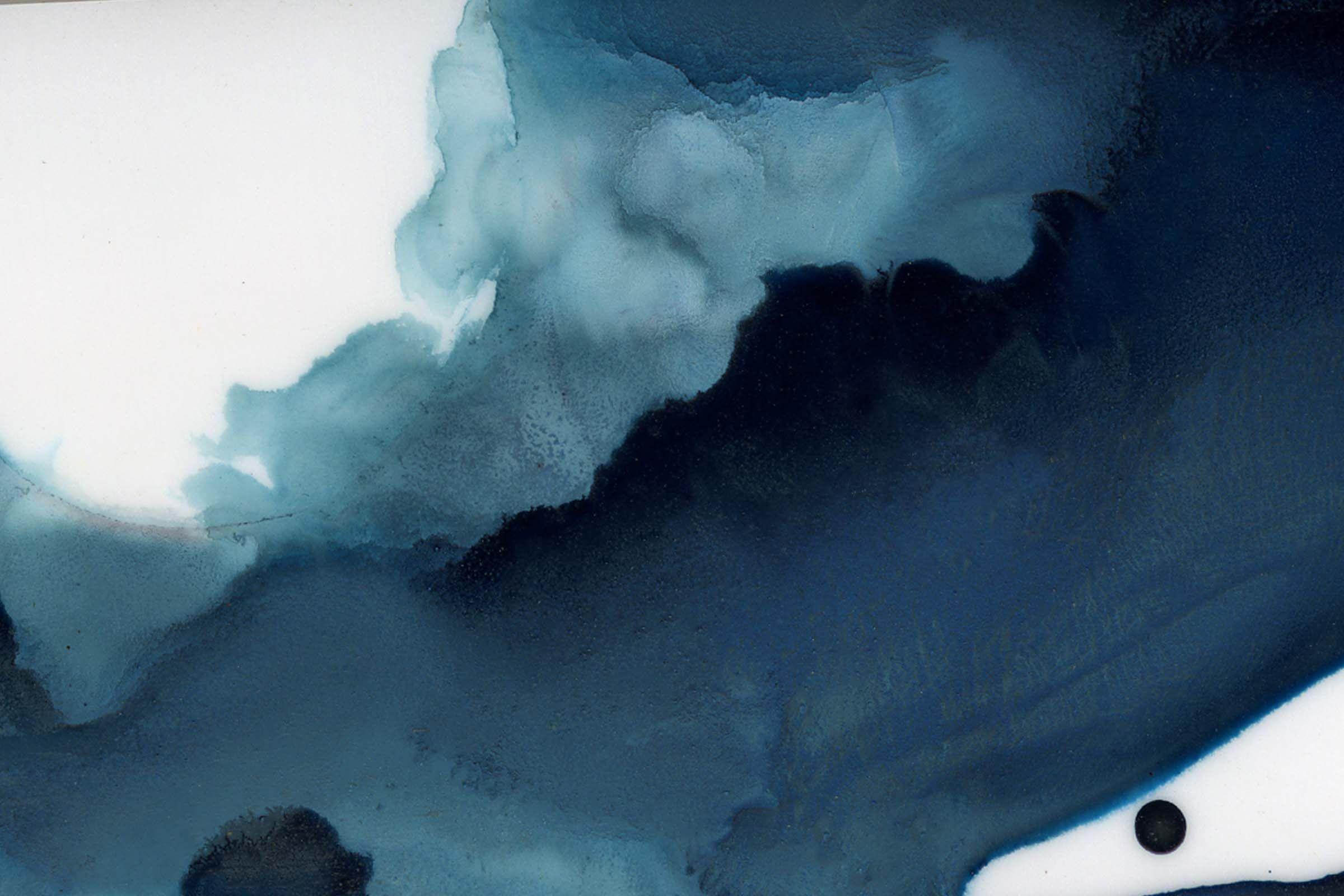 Black Crow Studio Amazing Watercolor Wallpaper Navy Slumber