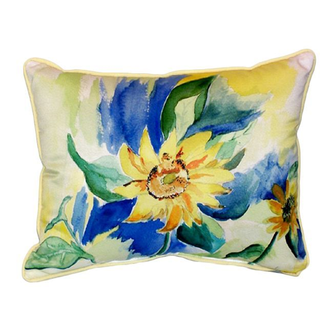 Betsy Drake Sunflower -color 20-inch x 24-inch Throw Pillow