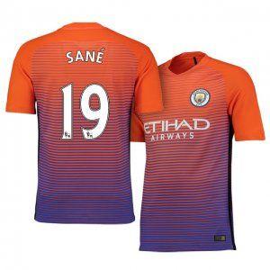 hot sale online 9de4e 828e6 Manchester City FC Third 16-17 Season Orange #19 Sane Soccer ...