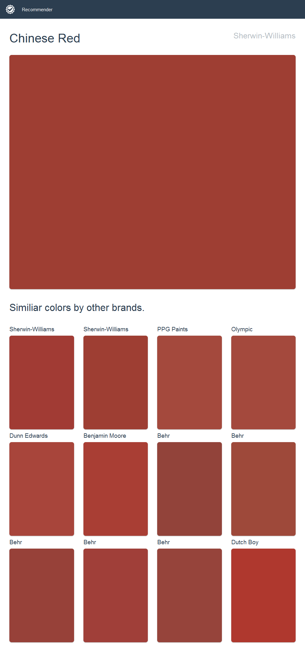 Chinese Red Sherwin Williams Dutch Boy Paint Olympic Png 976x2117 Color