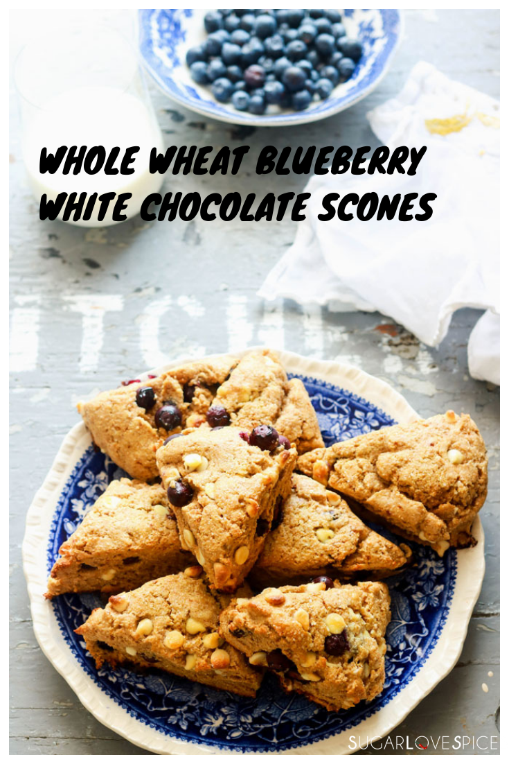 Whole Wheat Blueberry White Chocolate Scones images