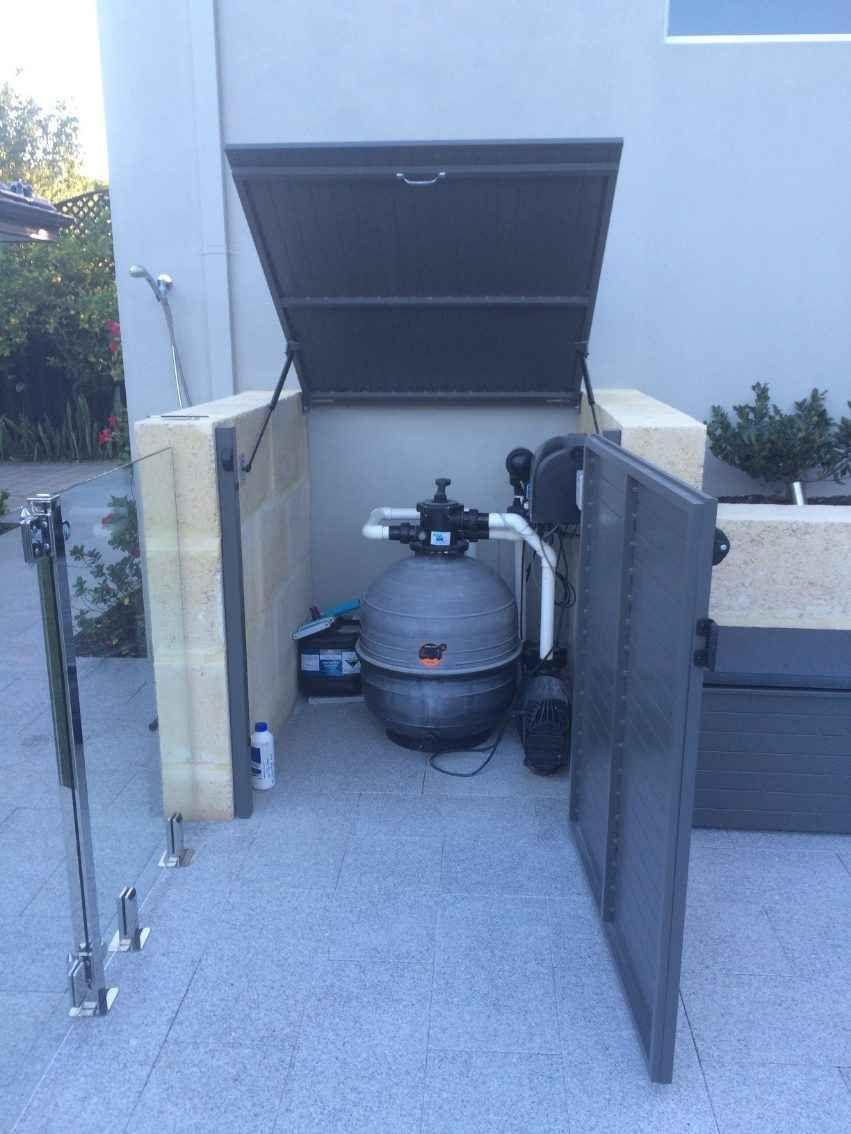 Filter Pump Enclosures Pool Blanket Boxes Pool Storage Pool Storage Box Pool Equipment Enclosure