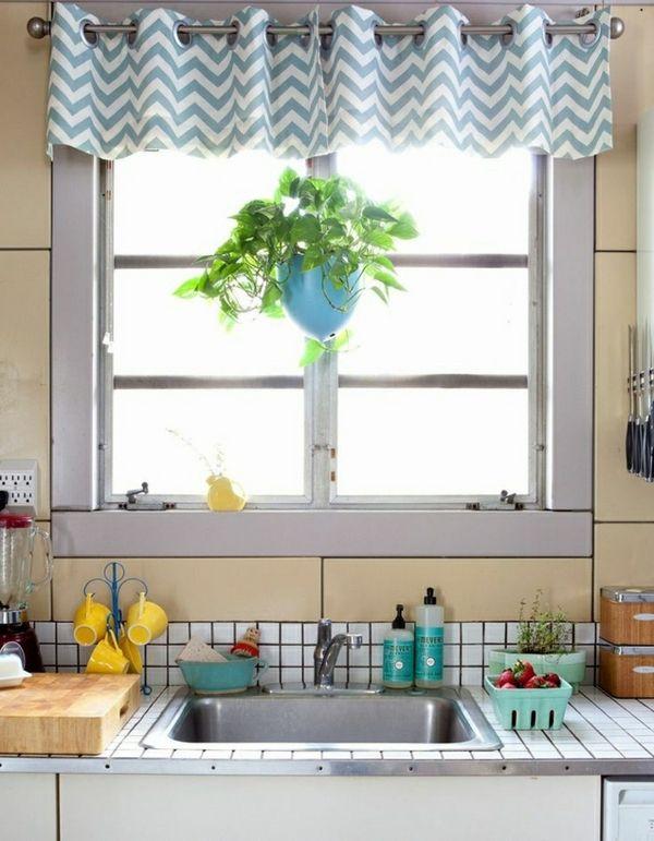 small kitchen window curtain ideas