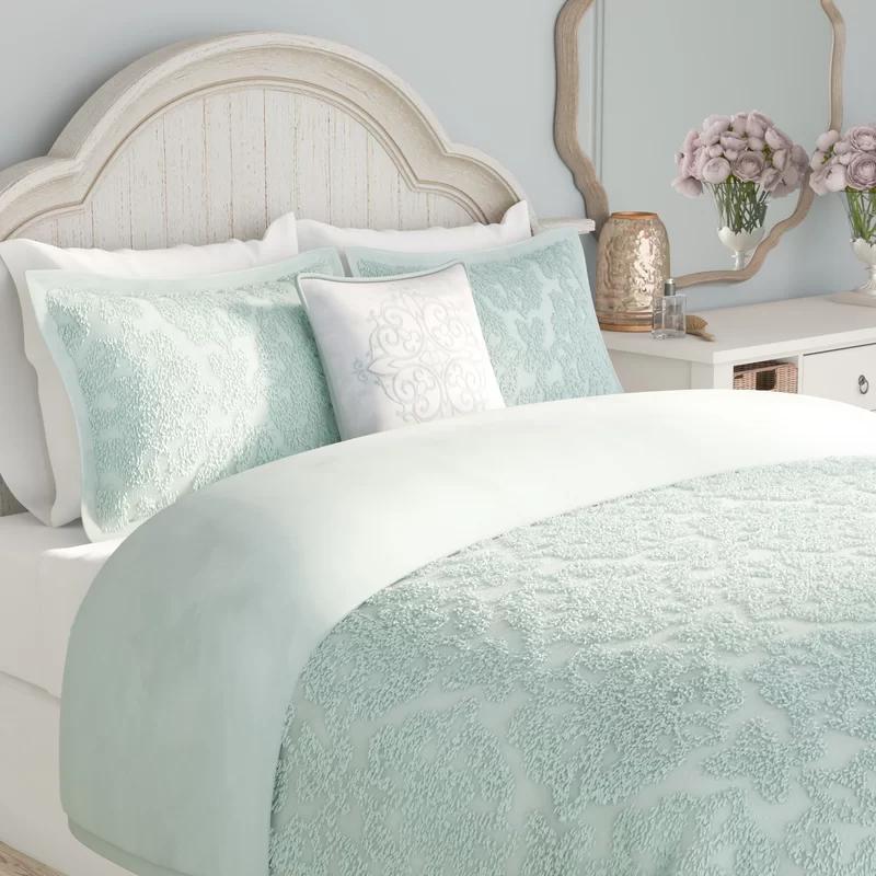 Ophelia Co Keeney Cotton Comforter, Seafoam Blue Bedding