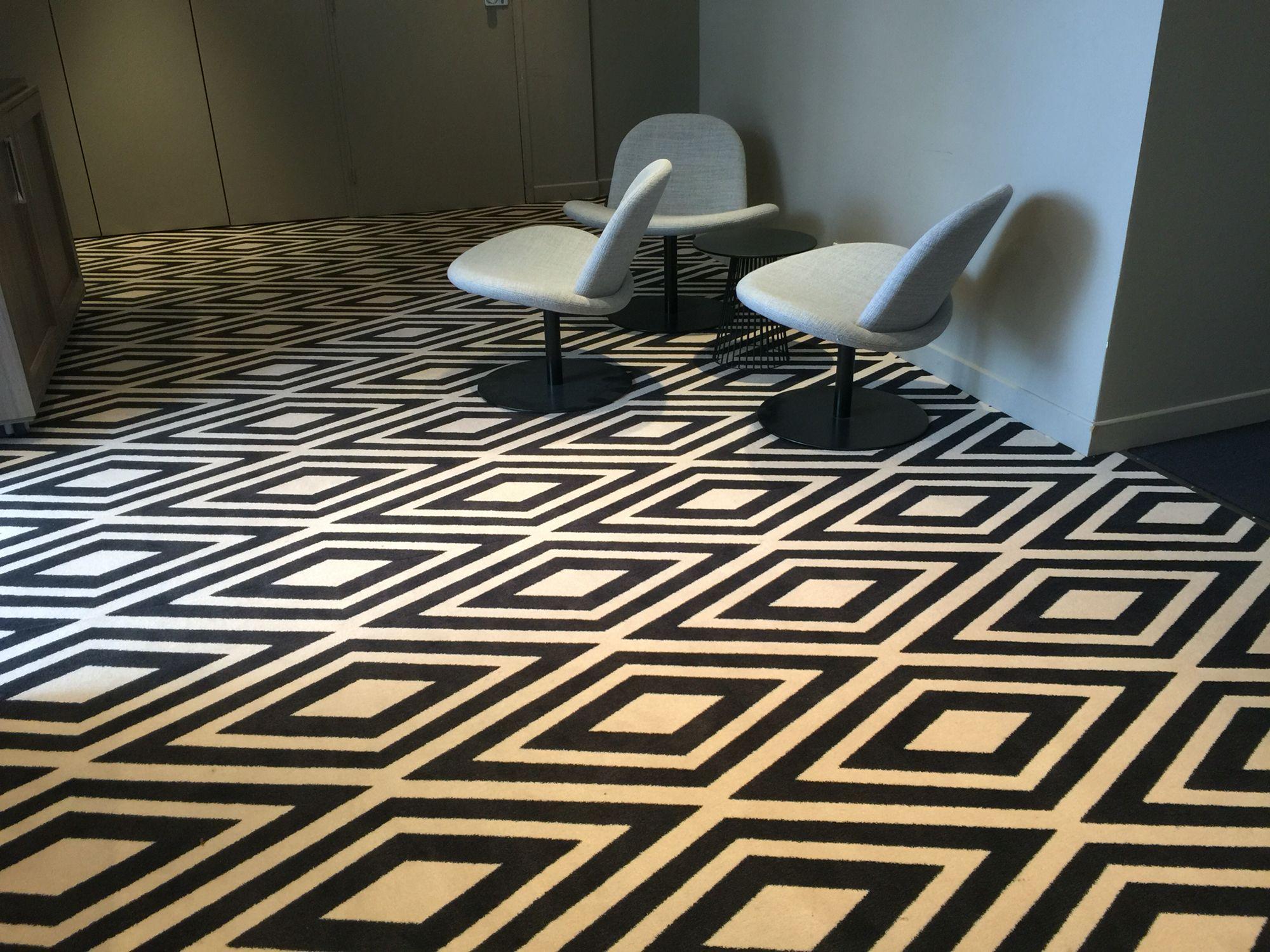 Ege carpets. Moquette lobby Hotel Mercure de Metz