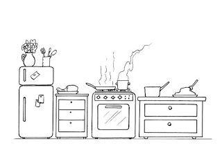 Dibujos Para Colorear Utensilios De Cocina Partes De La Casa