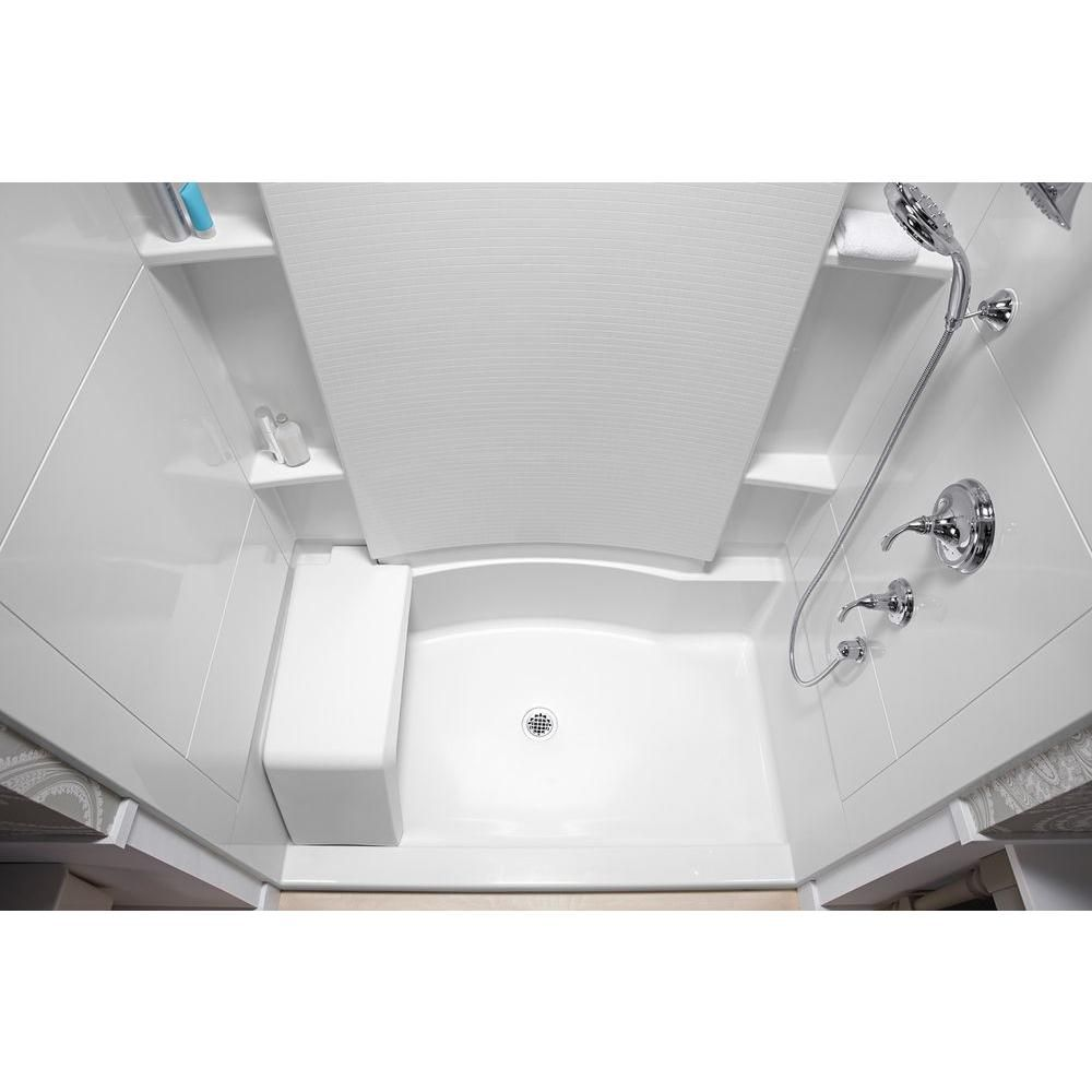 STERLING Accord 36 in. x 48 in. x 74.5 in. Seated Shower Kit with ...