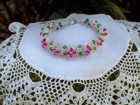 Faceted Crystal Bracelet Dazzling Silver Accents