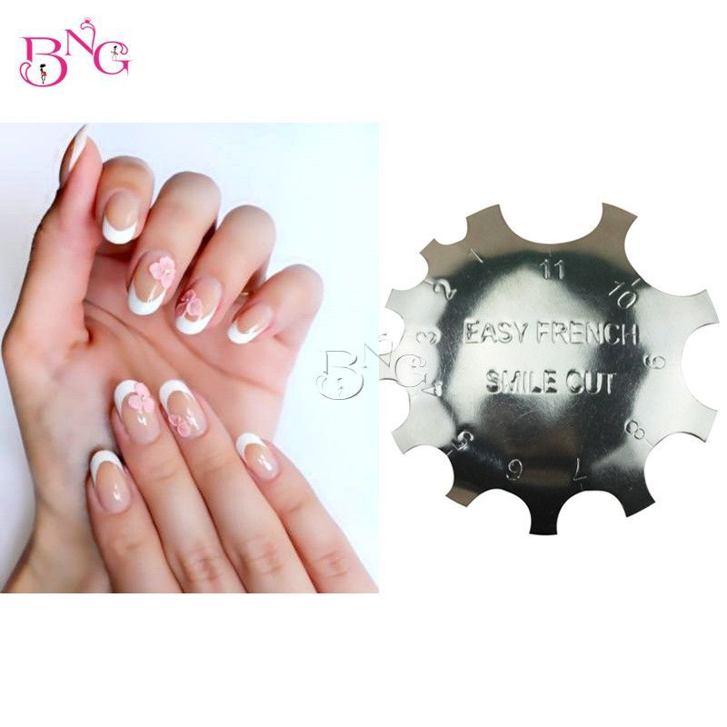 11 Sizes Regular Q Cutter French Manicure Nail Art Tool C Shade Poly Tips Pink White Trimmer Trim Nails Manicure Professional Nail Art