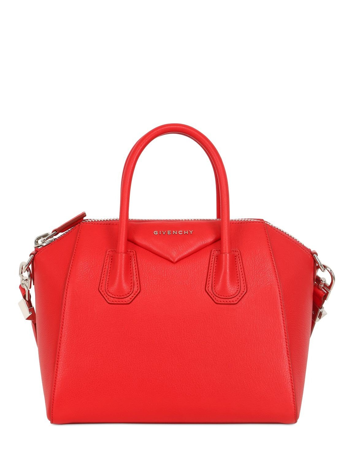 bd83b58c049 A structured everyday style, Givenchy's Antigona tote bag exudes the  elegance and glamour the label is renowned for. Punctuated with signature  silver-tone ...