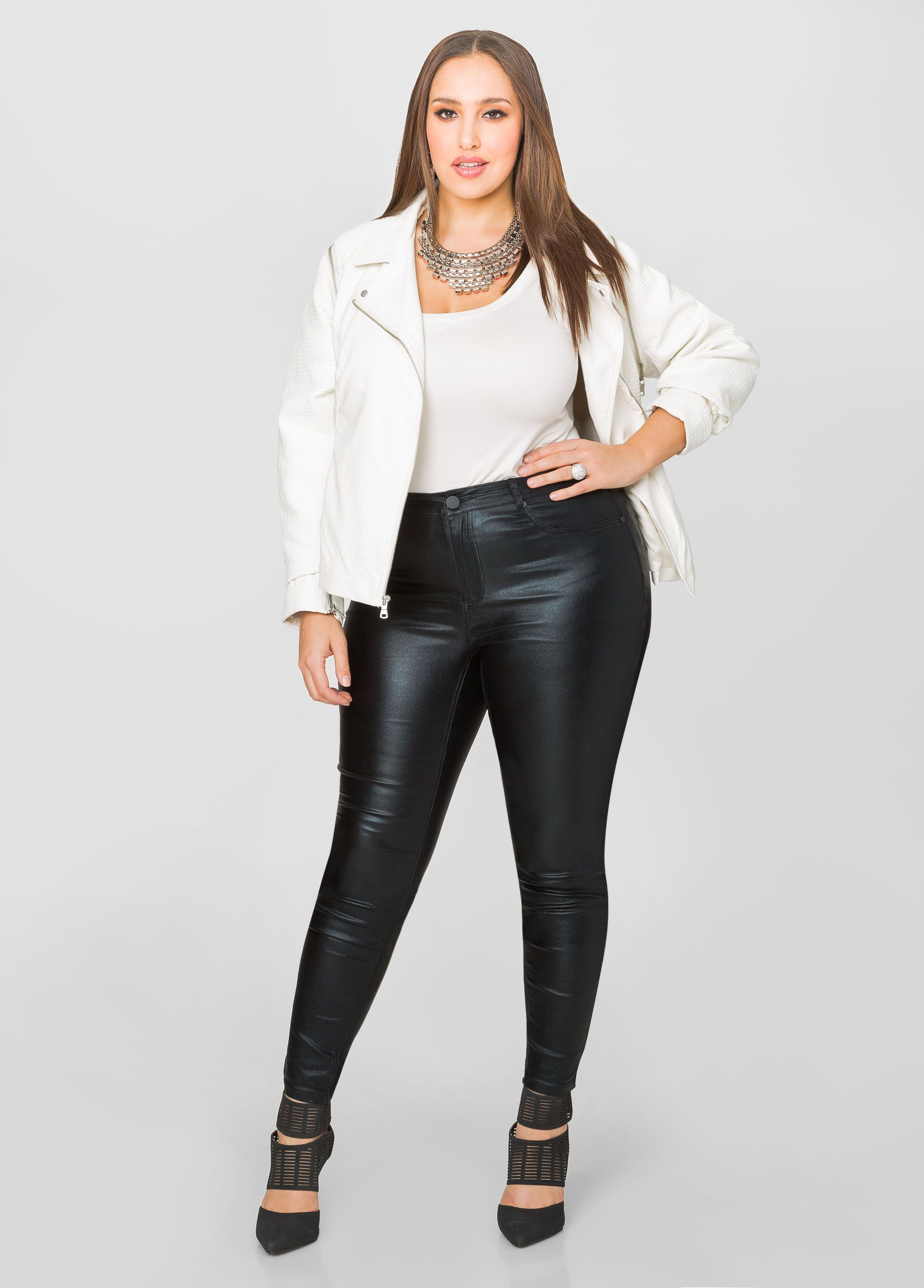 0e454e7c2892a 5-Pocket Metallic Skinny Jean - Ashley Stewart