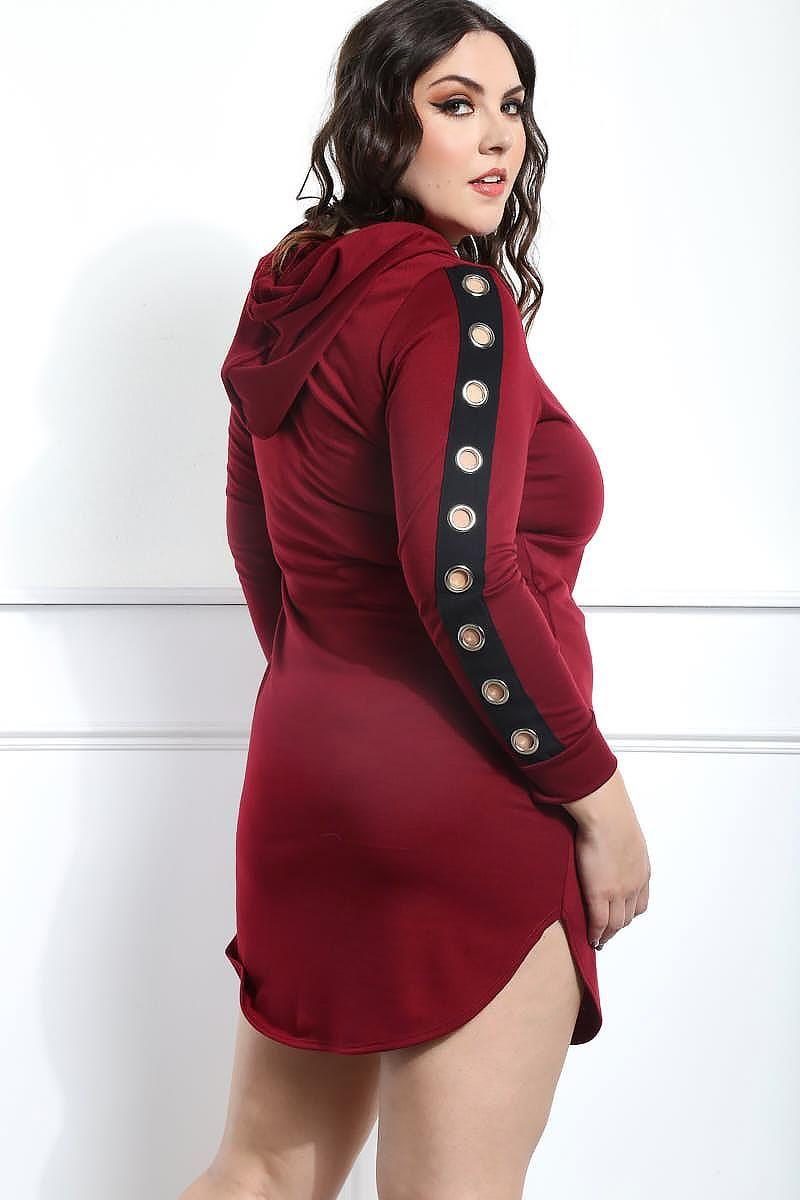 9da9baed9eb Court Me Plus Size Grommet-Sleeve Dress Dresses+ GS-LOVE
