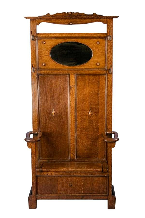 Antique Seated Carved Oak Hall Tree Vanities Amp Other