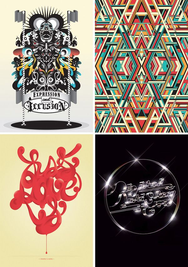 Here are four brand new pieces by Tom Redfern, this new collection of images showcases the breadth of styles Tom works in from bold graphic patterns to highly polished letterform.    #tomredfern #design #typograhy